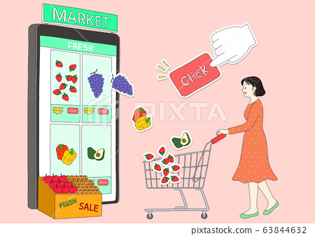 Online Shopping concept illustration. a convenient e-commerce shopping and delivery system 002 63844632