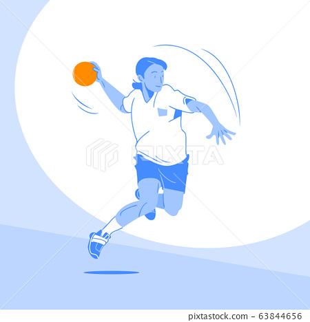 Sports Athletes silhouette illustration 049 63844656