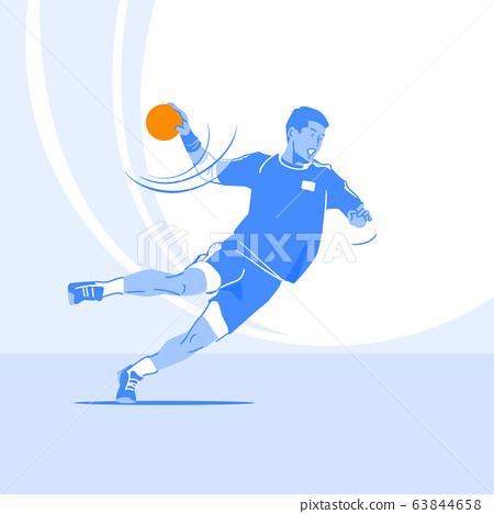 Sports Athletes silhouette illustration 048 63844658
