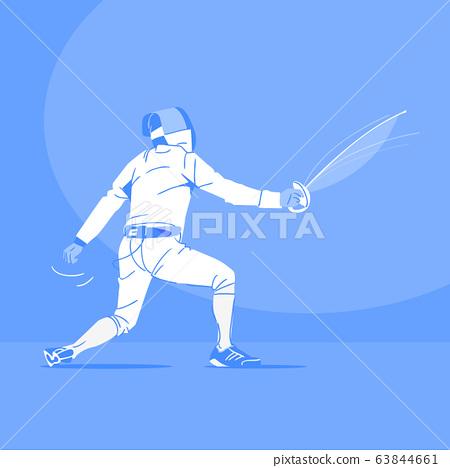 Sports Athletes silhouette illustration 047 63844661