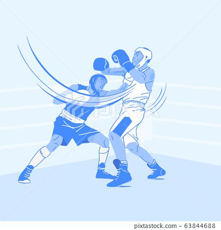 Sports Athletes silhouette illustration 029 63844688
