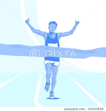 Sports Athletes silhouette illustration 015 63844689