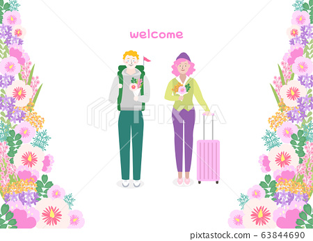 Love and appreciation concept, Happy Loving event illustration 017 63844690