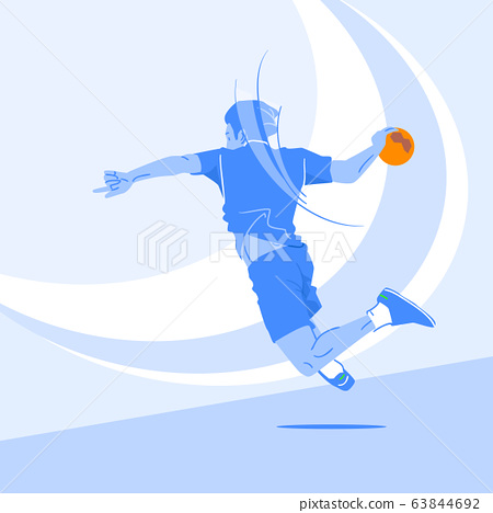 Sports Athletes silhouette illustration 050 63844692