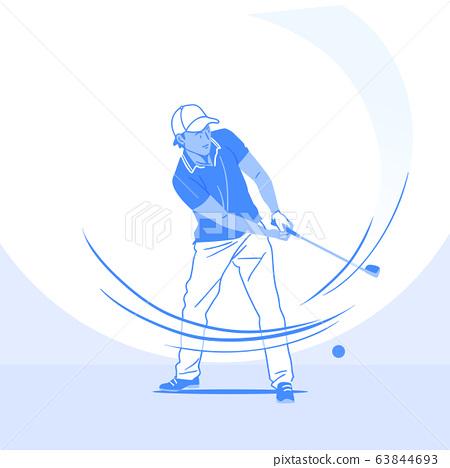 Sports Athletes silhouette illustration 043 63844693