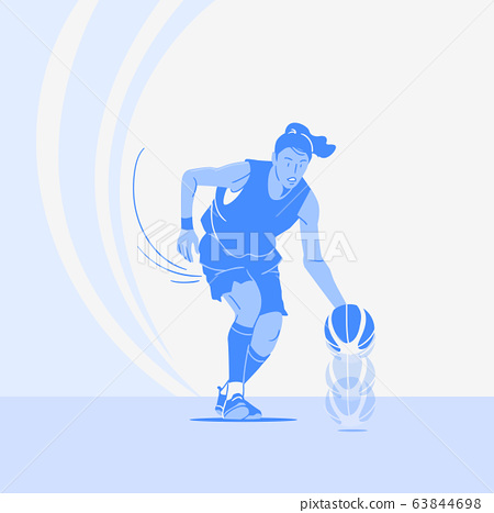 Sports Athletes silhouette illustration 025 63844698
