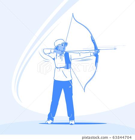 Sports Athletes silhouette illustration 008 63844704