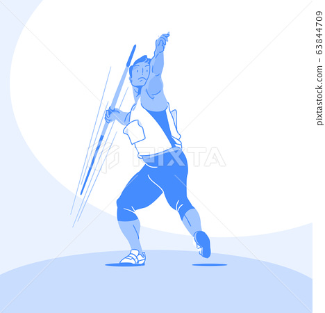 Sports Athletes silhouette illustration 014 63844709