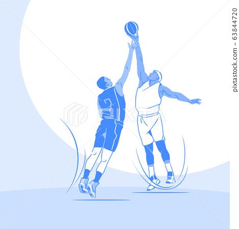 Sports Athletes silhouette illustration 023 63844720