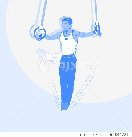 Sports Athletes silhouette illustration 034 63844721