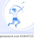 Sports Athletes silhouette illustration 019 63844725