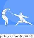 Sports Athletes silhouette illustration 045 63844727