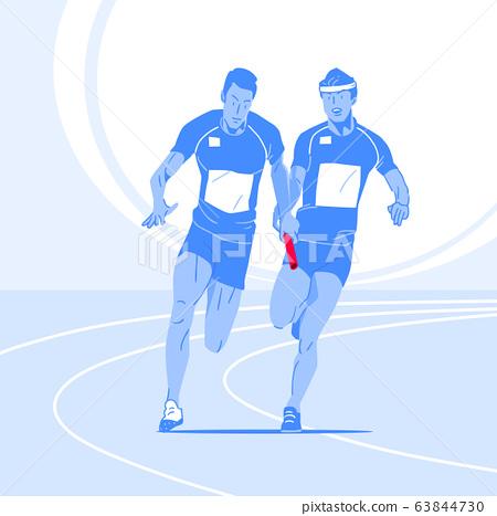 Sports Athletes silhouette illustration 012 63844730