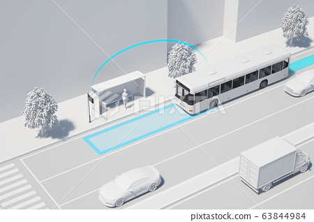 3D smart car safety system on the road 013 63844984