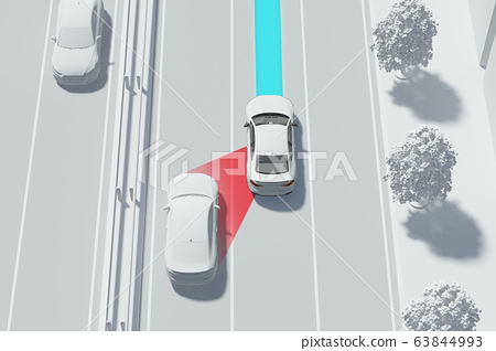 3D smart car safety system on the road 003 63844993