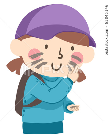 Kid Girl Face Dirt Illustration 63845146