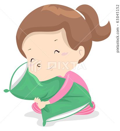 Kid Girl Adjective Soft Illustration 63845152