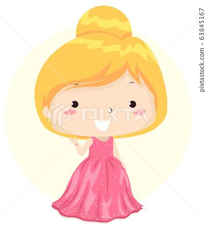 Kid Girl Adjective Elegant Illustration 63845167