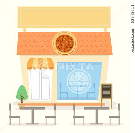 Pizza Shop Illustration 63845211