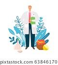 Doctor homeopath illustration 63846170