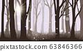 Misty forest background 63846366