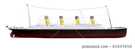 Historical ship Titanic isolated on white background 63847659