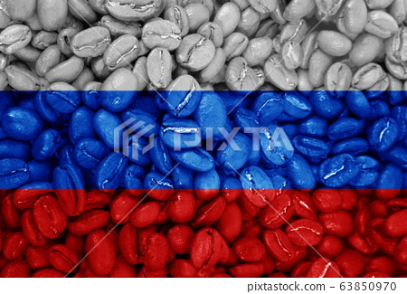 coffee with the country flag background 63850970