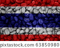 coffee with the country flag background 63850980