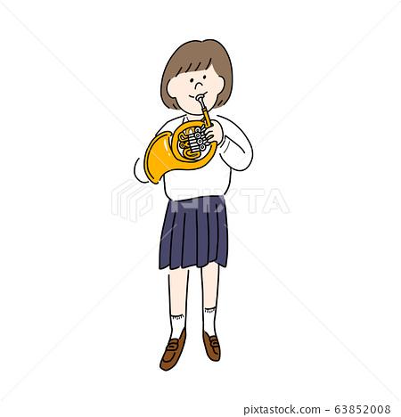 女學生吹喇叭(站立) 63852008