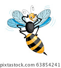 The wasp in a mask vector. The wasp is panicking. 63854241