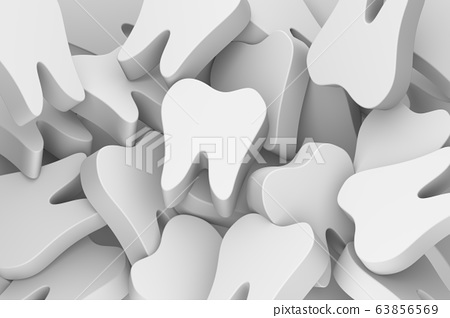 tooth stay on stack of teeth 63856569