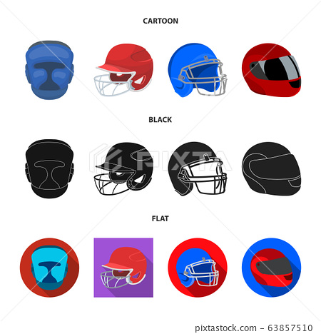 Vector illustration of helmet and sport icon. Set of helmet and moto vector icon for stock. 63857510