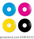 CMYK CD - DVD set on white background 63859333