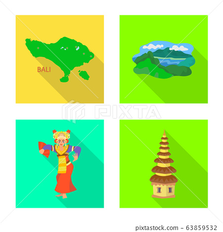 Vector illustration of travel and tourism logo. Collection of travel and island stock vector illustration. 63859532