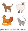 Vector illustration of farm and food logo. Collection of farm and countryside vector icon for stock. 63859601