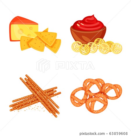 Isolated object of food and product symbol. Set of food and party vector icon for stock. 63859608