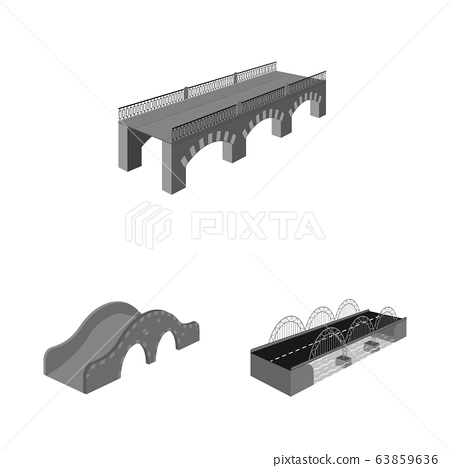 Vector design of connection and crossing sign. Collection of connection and design stock vector illustration. 63859636