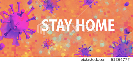 Stay at home theme with viral objects 63864777