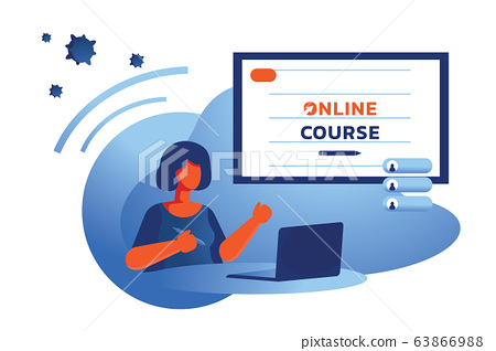 online course learning at home 63866988