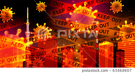 Tokyo Corona Virus Background 63868607