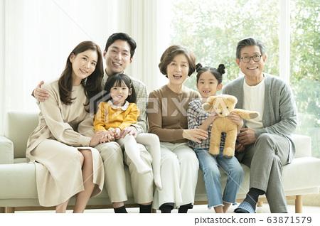 家庭,男人和女人,大家庭 63871579
