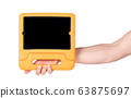 Tablet in a bright cover, designed for children 63875697