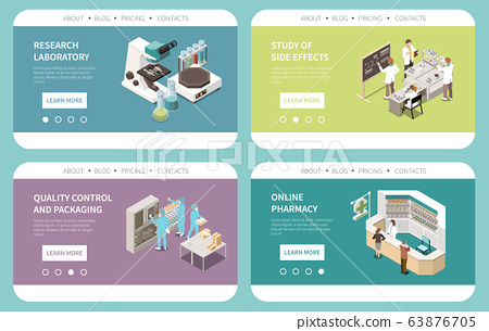 Pharmaceutical Production Isometric Website 63876705