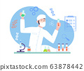 Male Scientist doing a medical research at the laboratory. Biochemical analysis with science equipment. 63878442