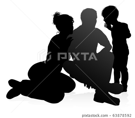 Family Detailed Silhouette 63878592