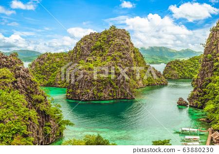 landscape of kayangan lake, Coron, Palawan, 63880230