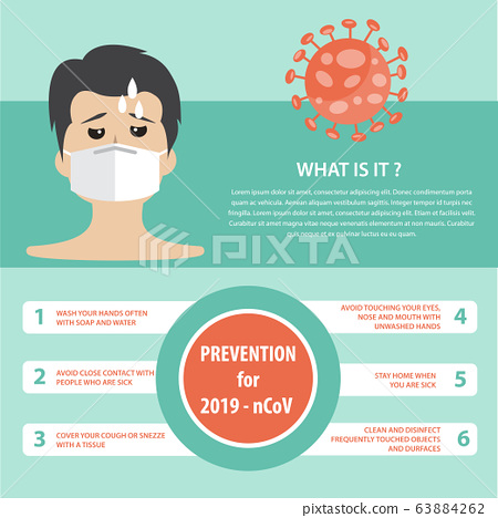 Infographic elements  of the new coronavirus. 63884262