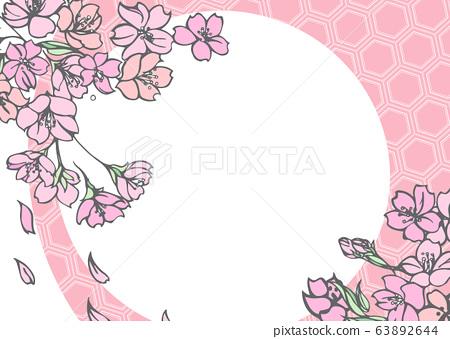 設計有櫻花圖案的背景材料 63892644