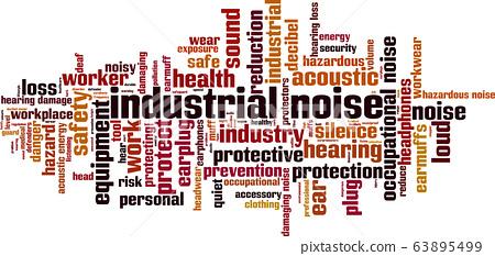 Industrial noise word cloud 63895499