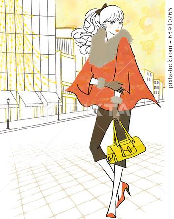 女人在照明的城市做逛街 63910765